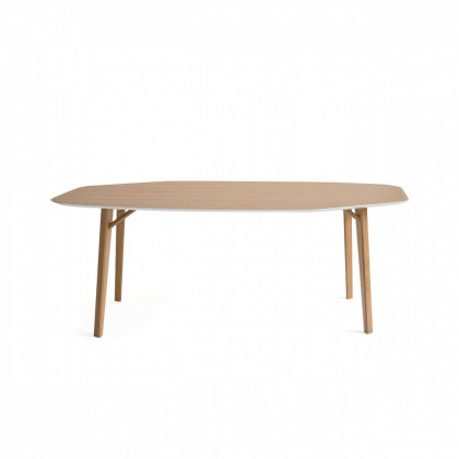 Cole Italian Design Label Tria Octagon Table - Natural Oak