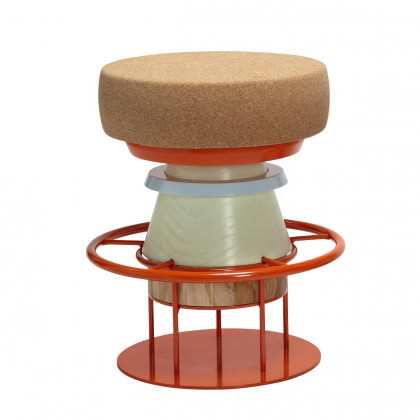 La Chance Tempo Cork Stool - Multi Colour