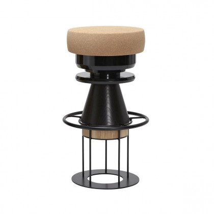 La Chance Tempo High Stool - Black