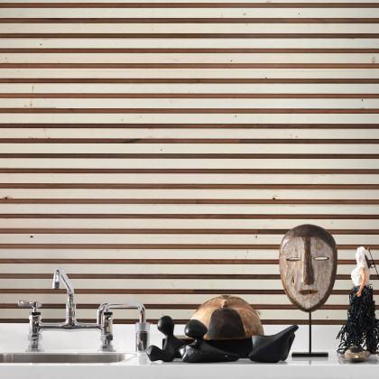 NLXL Scrapwood on Teak Timber strips Wallpaper by Piet Hein Eek