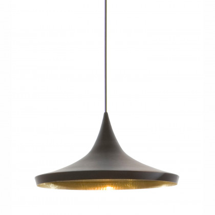 Tom Dixon Beat Wide Black Pendant - Black