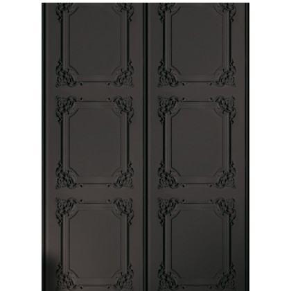 Louis XV Wood Panelling Wallpaper- Grey