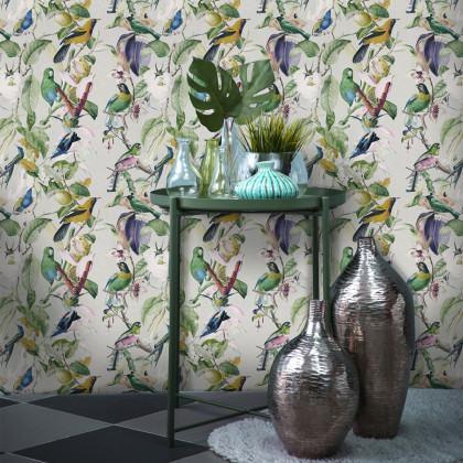 Mind The Gap Tropical Birds Wallpaper