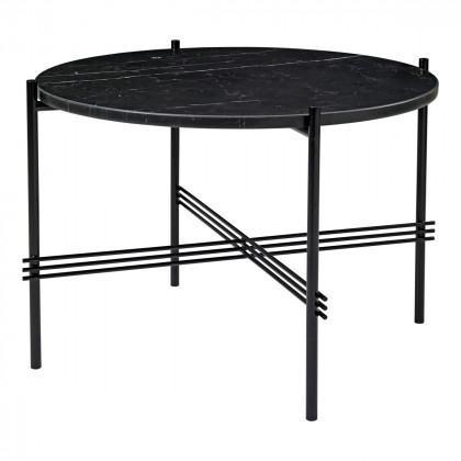 Gubi Ts Coffee Table - Round, 55cm Diameter-Black Marquina Marble-Black