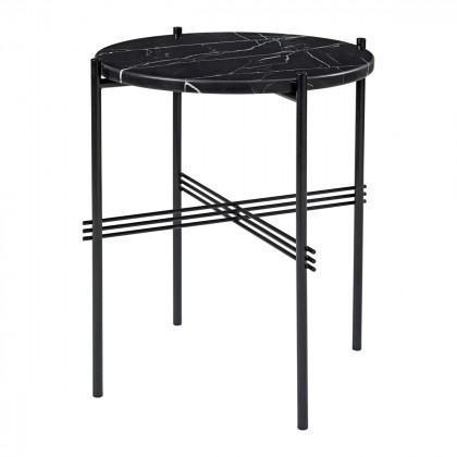 Gubi Ts Coffee Table - Round, 40cm Diameter-Black Marquina Marble-Black