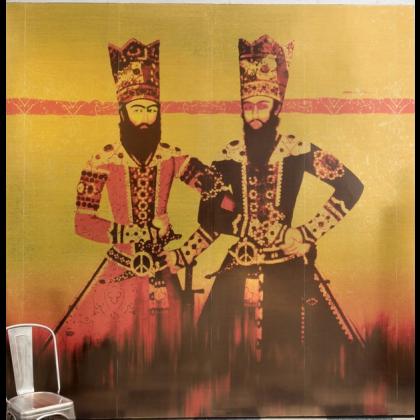 Elitis Les doudous peace & love Mural