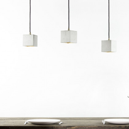 GANTlights B6 Square Concrete Pendant Light