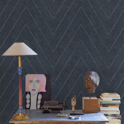 Coordonne Montmartre Camus Herringbone Wallpaper