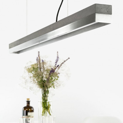 GANTlights C Concrete Pendant Light - Stainless Steel (Various Sizes)