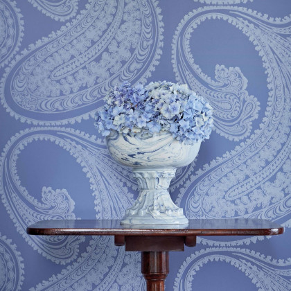 Cole and Son Rajapur Flock Paisley Wallpaper - Icons