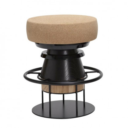 La Chance Tempo Cork Stool - Black