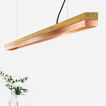 GANTlights C3 Light Oak Pendant Light - Various Materials (182cm)