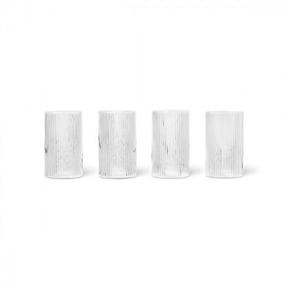 Ferm Living Ripple Verrines Glasses - Set Of 4