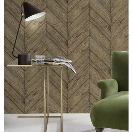 Old Wood Chevron Wallpaper