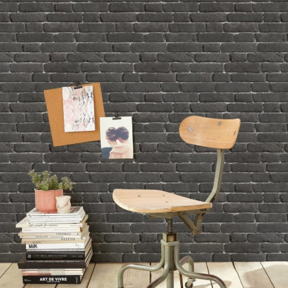 Black Old Bricks Wallpaper