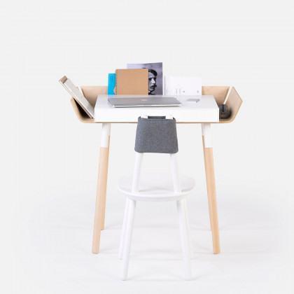 EMKO My Writing Desk - Single Drawer White