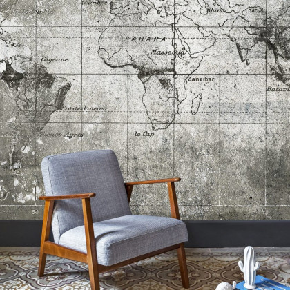 Coordonne Old Map Mural Wallpaper