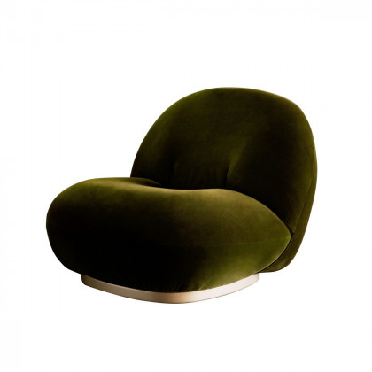 Gubi Pacha Lounge Chair - Swivel Base
