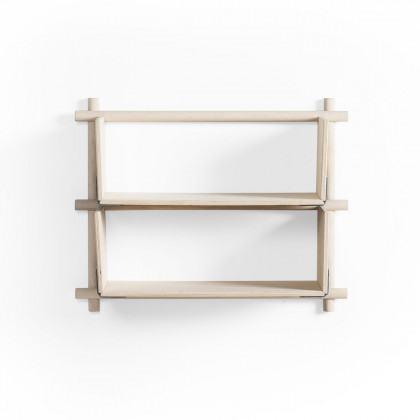 Emko Foldin Shelving Unit, Two Holes, One Shelf