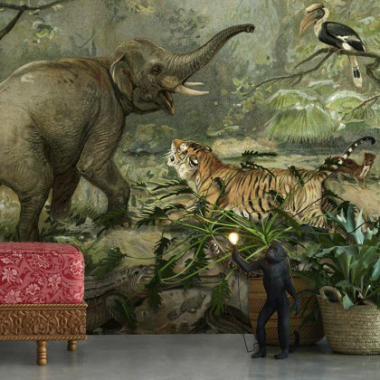 Feathr Animal Kingdom (Vintage Animal) Wall Mural Wallpaper - Original