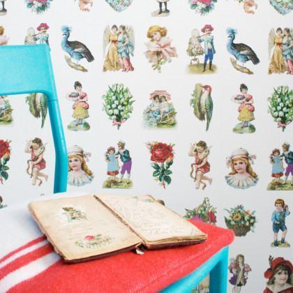 Studio Ditte Vintage Scraps Wallpaper
