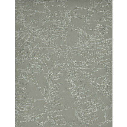 Andrew Martin Navigator Traveller Wallpaper-Putty