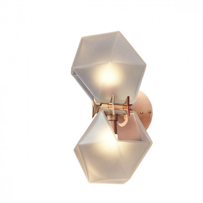 Gabriel Scott Welles Double Glass Wall Sconce