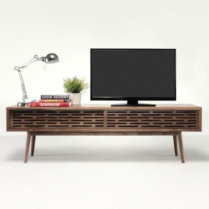 Wewood Radio Solid Walnut TV Cabinet
