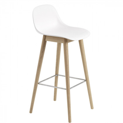 Muuto Fiber Wood Base Bar Stool - 75cm