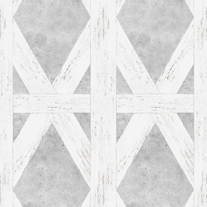 Mineheart White Tudor Wallpaper