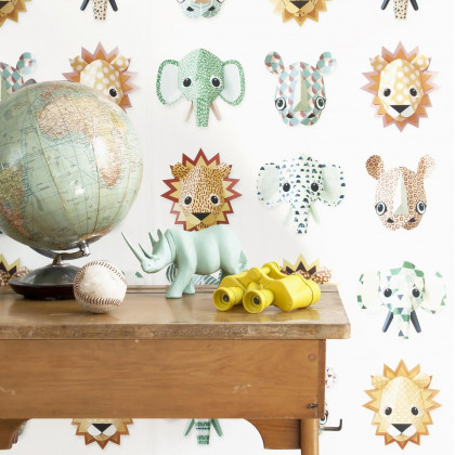 Studio Ditte Wild Animal Wallpaper - Cool