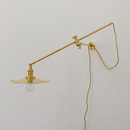Workstead Industrial Wall Light - Gold Brass