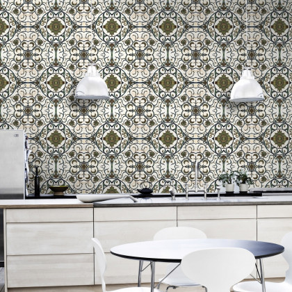 Mind The Gap Organic Tile Wallpaper