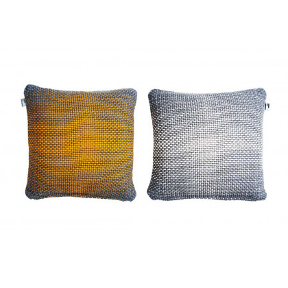 Simon Key Bertman Textile Design & Art -2-Sided Gradient Cushion Cover -Yellow/Grey
