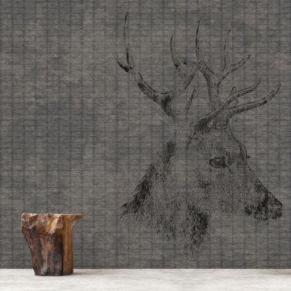 Yo Designs Industrial Deer Mural