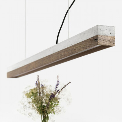 GANTlights C1 Concrete Pendant Light - Old Wood