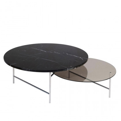 La Chance Zorro Glass/Marble Coffee Table -